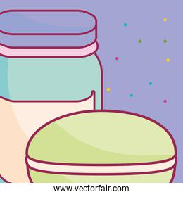cute beverage jar with candy