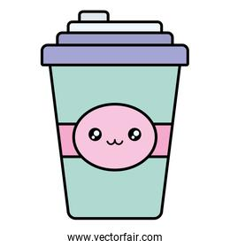 plastic cup container kawaii character