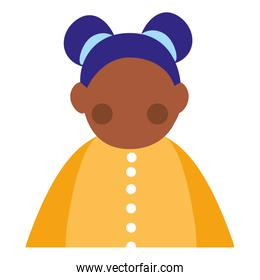 beautiful little black girl character