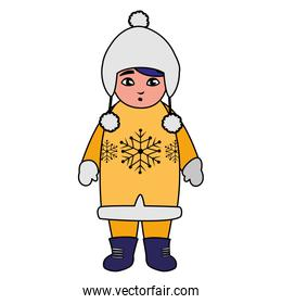 cute little boy with winter clothes