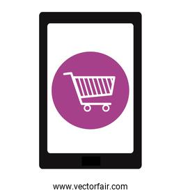 tablet with shopping cart app device