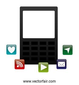tablet with applications menu