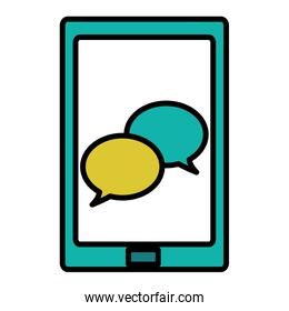 tablet with app chat