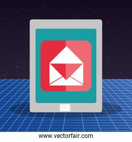 tablet with email app