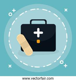 medical kit with cure band