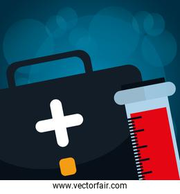 medical kit with tube test blood