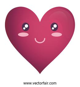 heart face emoticon character