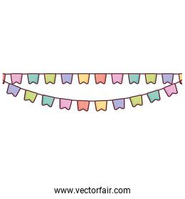 party garlands hanging icon