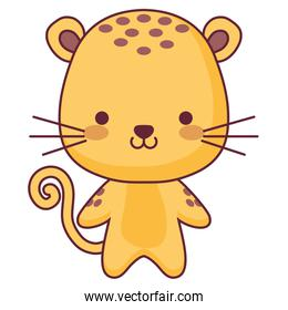cute and little tiger character