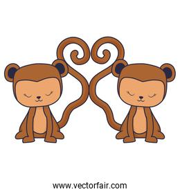 cute and little monkeys characters