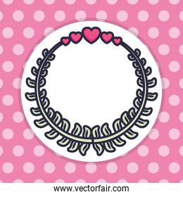 wreath with hearts love valentines decoration