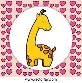 cute and little giraffe character