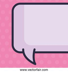 illustration of text bubble over pink