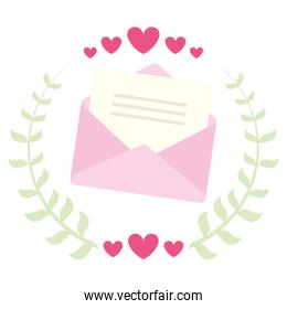 cute Love Letter with hearts