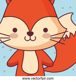 cute and little fox character