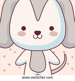 cute and little dog character