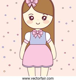 cute and little girl character