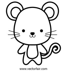 cute and little mouse character