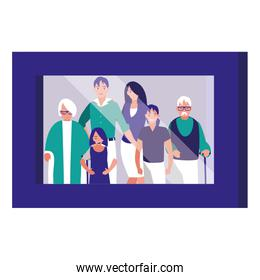 portrait with family picture