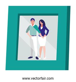portrait with couple picture