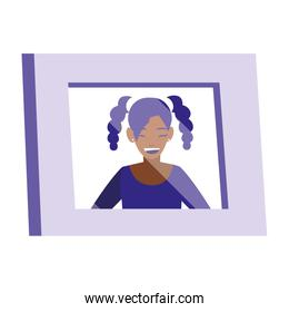 portrait with black girl picture
