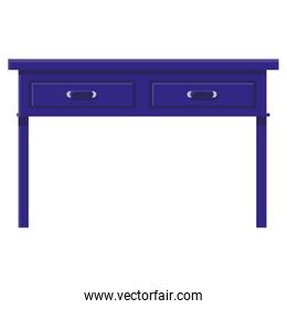 table with drawers wooden house forniture