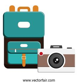suitcase travel with camera photographic