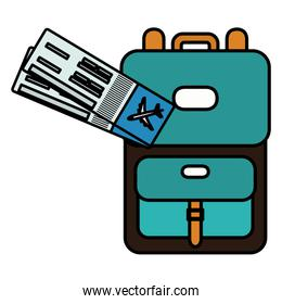 suitcase travel vacations with tickets