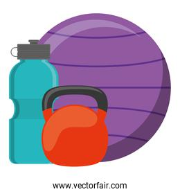 gym water bottle with dumbbell and balloon