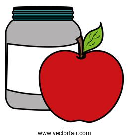 proteins pot plastic product with apple