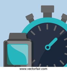 chronometer timer with smartwatch