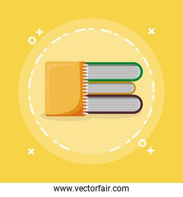 pile text books with notebook