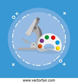 microscope and pallette school supplies
