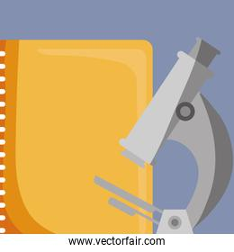 microscope science with notebook