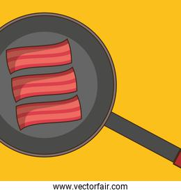 pan with delicious bacon fried breakfast menu