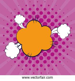 cloud expression with smoke pop art style