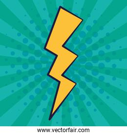 power ray energy pop art style