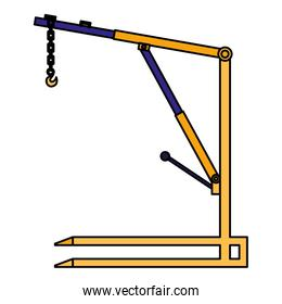 crane mechanic workshop icon