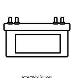 electric battery car icon