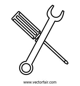 wrench key and screwdriver tools