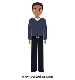 young and casual black man character