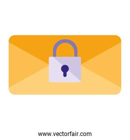 envelope mail with padlock