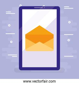 smartphone device with envelope