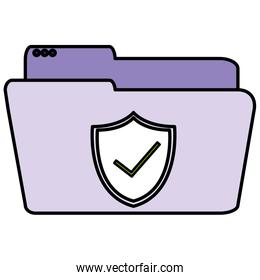 folder document with shield