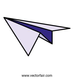 paper airplane isolated icon