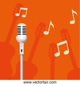 microphone singer isolated icon