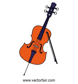 fiddle instrument musical icon