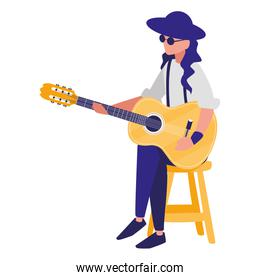 guitarist playing guitar character