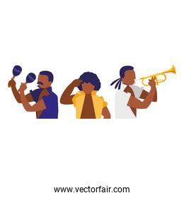 group of musicians characters