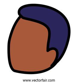 young black man head character